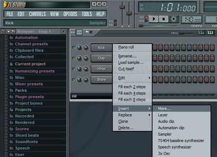 Как сделать партию ударных в fl studio
